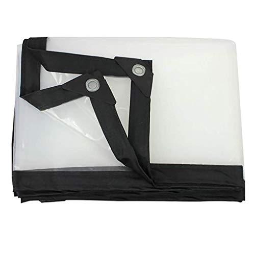 HCYTPL helder dekzeil 0,12 mm waterdicht high-performance PVC-plastic doek-waterdichte isolatie PET met rubberen dopjes