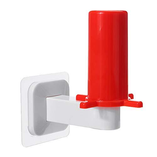 Otras herramientas - Soporte para rollos de papel higiénico y cocina, organizador para colgar (color: rojo)