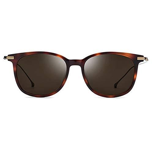 Zhhhk Nuevas Gafas De Sol Polarizadas B De Titanio B Gafas De Moda Ultra Ligeras for Mujer con Marco De Leopardo Marrón Lente Protección UV400