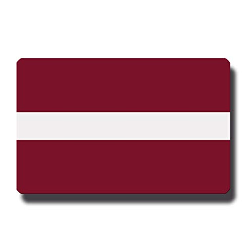 Kühlschrankmagnet Flagge Lettland - 85x55 mm - Metall Magnet mit Motiv Länderflagge