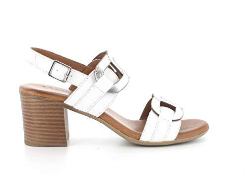 Melluso Sandalo Donna k55105a in Pelle Bianco con Sottopiede in Memory Foam 38