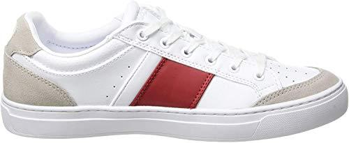 Lacoste COURTLINE 319 1 US CFA, Baskets Femmes, Blanc (White/Red 286), 38...