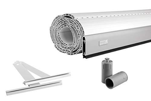 Schellenberg Rolladen Maßanfertigung, PVC Rolladenpanzer, Auswählbar: Breite 50-200 cm, Höhe 100-230 cm, System Maxi, Farben Weiß, Grau