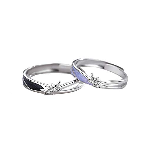 huijiaba Unicorn Couple Ring a Pair of Creative Design Simple Niche Opening Ring