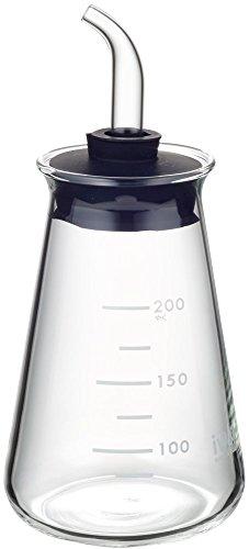 iwaki(イワキ) 耐熱ガラス 調味料入れ オイルボトル オイル差し サイキ ブラック 200ml KB5034-BK