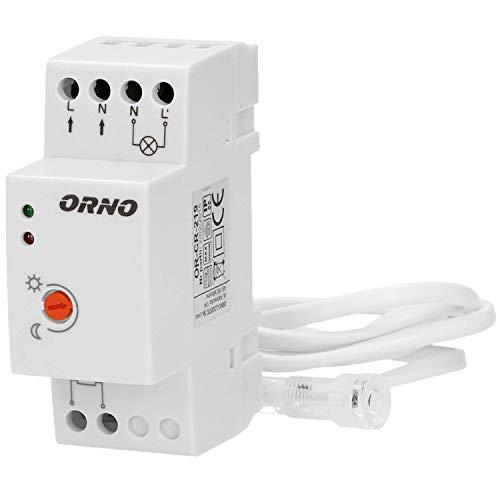ORNO CR-219 Interruttore Crepuscolare 10W - 2300W IP65 Resistente All'acqua 4 Tipi (Montaggio DIN precablato)