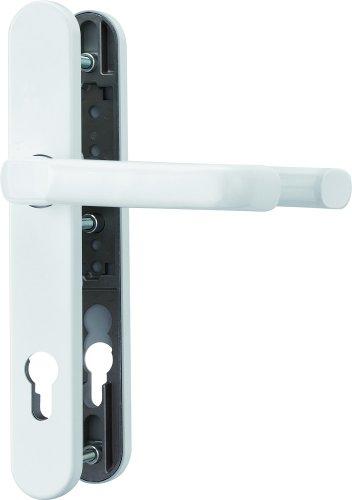 ABUS Tür-Schutzbeschlag SRG92 W weiß mit beidseitigem Drücker 22263