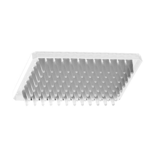 Axygen P-96-450V-C-S Deep Well 96-Well x 500 microliter Assay Storage Microplate with V-Bottom Wells, Clear PP, Sterile (1 Case: 10 Plates/Unit; 5 Units/Case)