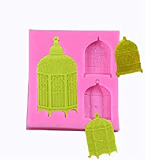 S.Han Silicone Bird cage Mold Fondant Mould Cake Decorating Clay Resin Molds Baking Tools