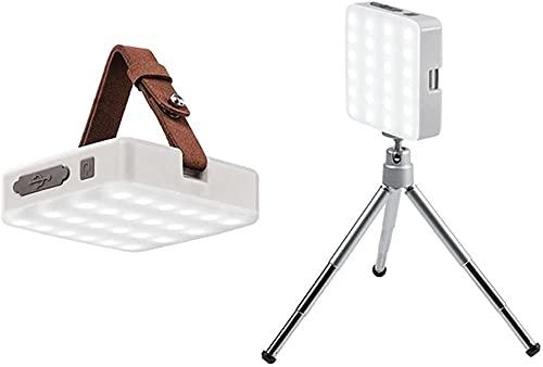 Outdoor Portable USB - Farol de tienda de campaña, luz de emergencia, teléfono móvil, Power Bank linterna, lámpara colgante de camping, color blanco
