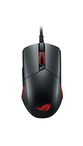 ASUS ROG Pugio Gaming Maus (Rechts-/ Linkshänder, 7200 DPI, Aura Sync RGB Unterstützung) stahlgrau