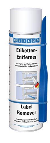 Weicon 11206500 Etiketten-Entferner 500ml + Gratis Spezial-Spatel für effektives Arbeiten, farblos