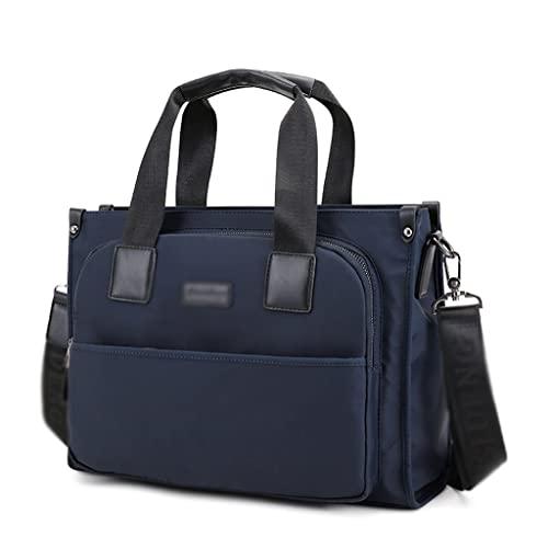 WQXD Hombres Impermeable Nylon Maletín Convertible 14 Pulgadas Laptop Messenger Bags Bolso Multifunción Bolso de Hombro de Negocios (Color : Blue, tamaño : 14 Inch)