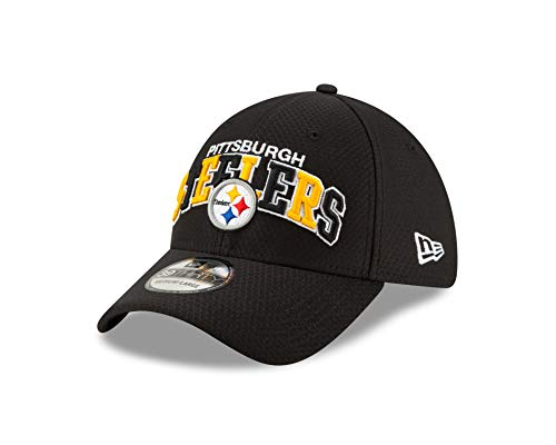 New Era Pittsburgh Steelers 39thirty Stretch Cap NFL 2019 Sideline Home 1990 Black - M - L