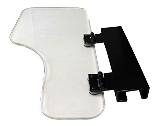The Aftermarket Group Wheelchair Half Lap Tray, Clear Acrylic, Flip-Up Hardware, Right, TAG010036
