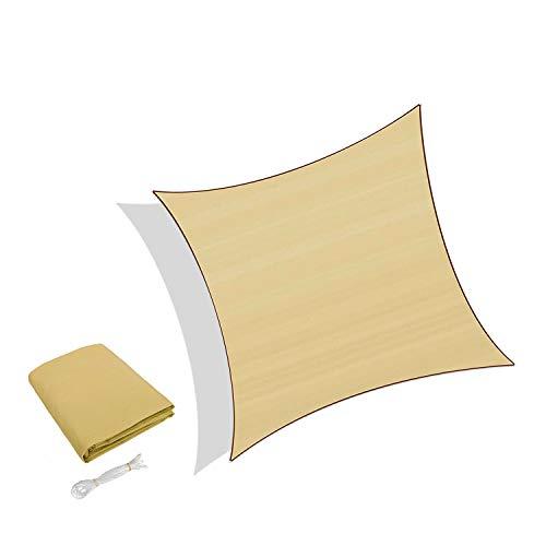 Sunnylaxx Tenda a Vela Quadrata 3.6 x 3.6 Metri, Vela Ombreggiante Impermeabile e Resistente per Giardino, Balcone & Terrazza, Colore Sabbia