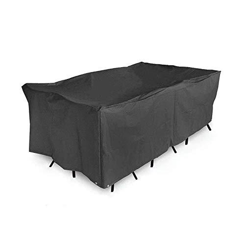 Patio de la cubierta, Muebles de terraza cubierta de asiento impermeable cubierta protectora Conjunto rectangular mesa exterior y cubierta de la silla, muebles de jardín cubierta de polvo lona (Tamaño