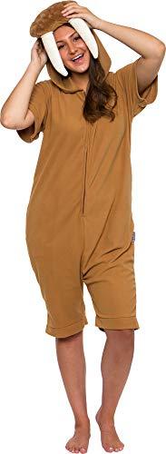 Funziez! Walrus Short Sleeve Pajamas - Plush Animal Costume (Brown, Small)