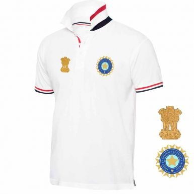 Indien Cricket Crest Polo Shirt