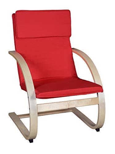 Niche Mia Bentwood Reclining Chair Beech/Crimson