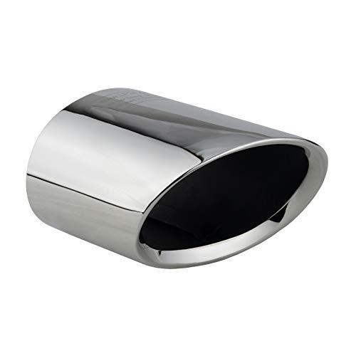 L&P A308 Auspuffblende Endrohrblende oval Edelstahl spiegel poliert Chrom kompatibel mit 3er e90 e91 vorFacelift Bj. 2004-2007 Auspuff Blende Endrohr Plug Play Ersatzteil OEM 82120398333 82127574353