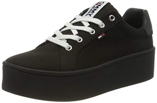 Tommy Hilfiger Tommy Jeans Flatform Sneaker, Zapatillas para Mujer, Negro (Black Bds), 39 EU