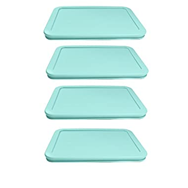 Pyrex Replacement Plastic Light Blue Lid 7210 4 Pack