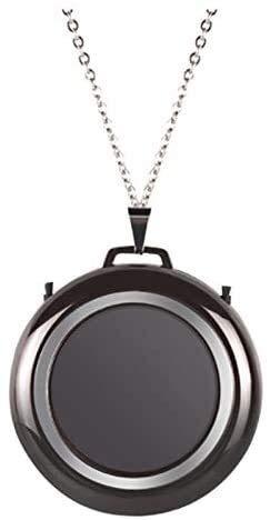 YYhkeby Purificador de Aire del Collar, Cuello Colgante Coche portátil Barra de oxígeno Purificador de Aire de Iones Negativos (Negro marrón Negro) Jialele