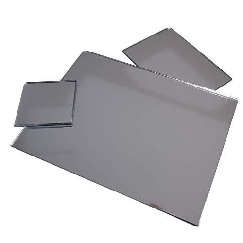 in-outdoorshop Acrylspiegel, Plexiglas®-Spiegel, qualitativ hochwertiger Spiegel, Zuschnitt Scheibe aus 3mm Acrylglas XT Silber, verschiedene Größen und Formen (20cm x 30cm)