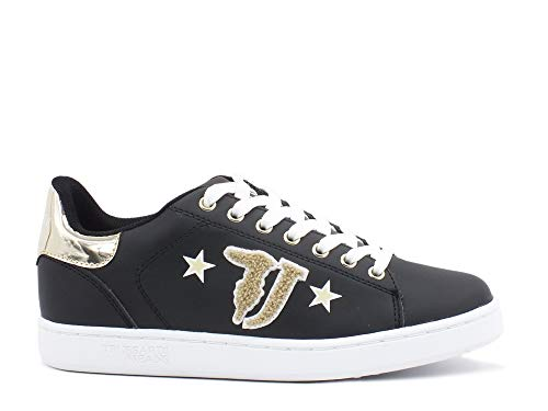Trussardi Jeans 79A00419/K320 Sneakers Synthetic Patch Logo with Star Scarpe (37 EU)