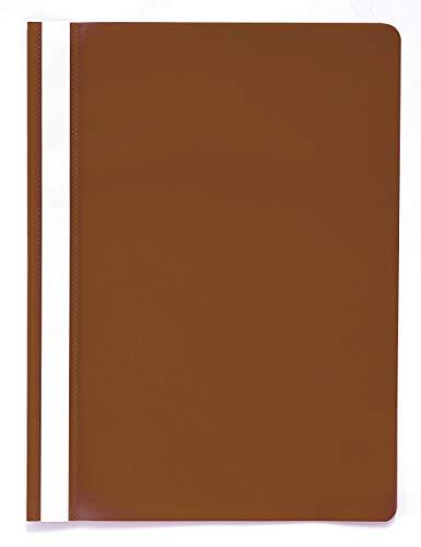 Exacompta 449211B Sichthefter aus PP, mit Beschriftungsstreifen, für DIN A4, bis zu 100 Blatt, 1 Stück, braun