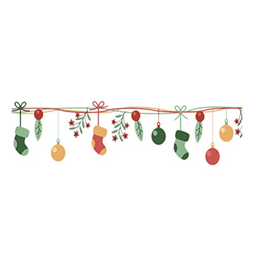Adhesivos de Ventana de Navidad Adhesivos de Pared Decorativos Bricolaje extraíble Vinilo...