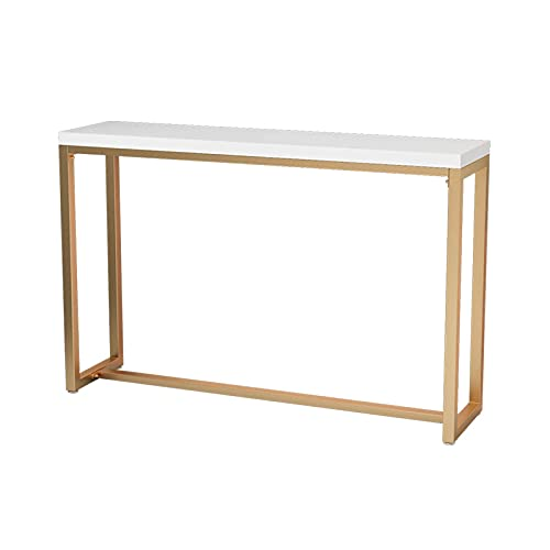 Bar Tables And Chairs, Living Room Kitchen Tables 120CM Easy To Install Marble Console Tables Hotel Dining Tables(Color:#1)
