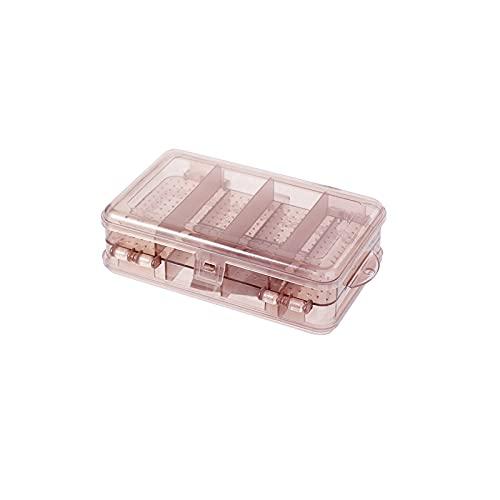 ZWL Clear Plastic Box - Jewelry Organizer - para Almacenar Objetos Pequeños como Aretes Colgantes y Anillos,Rosado