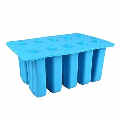 JYDQM 10 Cavity Silicone Popsicle Helado Molde de Helado con Funda DIY DIY LOLLIO Hombres LUCHAMIENTO DE Frutas Cube DE Ice Cubo Faker (Color : B)