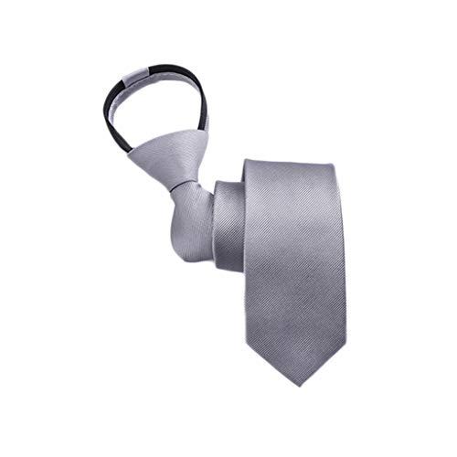 Corbata Hombre Han Versión Estrecho Vestido de Estudiante Negocio Lazy Zipper Tie (Color : F)