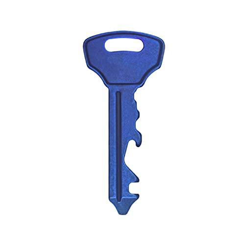 Tre-blad trä bärbart mini verktyg, multifunktion bärbar mini skruvmejsel hängande litet verktyg nyckelring flasköppnare blue
