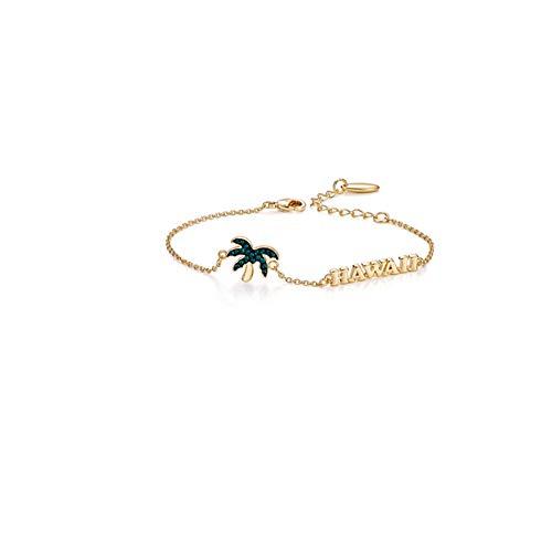 SGSG Mujer Pulsera Hombre Ajustable Simple Swarovski Crystal Shining Jewel Chain Link Jewelry Gift para Damas niña,Regalo