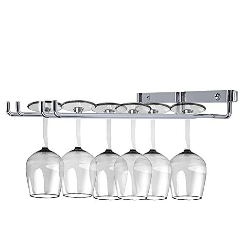 Portabottiglie da Parete Porta Bicchieri da Vino Porta Calici da Parete Porta Calici Portabicchieri Salvaspazio Doppia Fila Ospitare 6 Tazze Dispensa Cucina