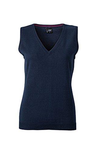 Klassischer Damen-Baumwoll-Pullunder im digatex-package L,Navy