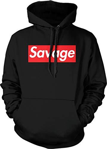 Tcombo Savage - Lit Ruthless Cold Hearted Unisex Hoodie Sweatshirt (Black, Medium)