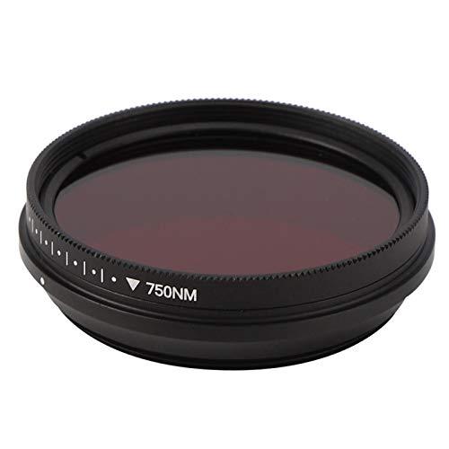 Creación de fotografía con filtro infrarrojo ajustable, para marco frontal con rosca, para creación de fotografía infrarroja(43mm)