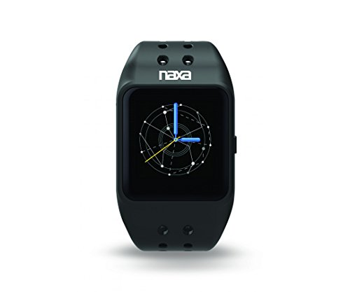 NAXA Electronics NSW-14 LifeForce and Smart Watch, Compatible with iPhone and Android, Black