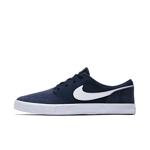 Nike Herren Sb Portmore Ii Solar Skateboardschuhe, Blau (Midnight Navy/White-Black 410), 37.5 EU