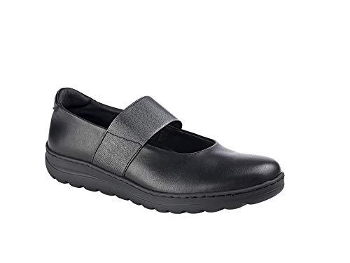 Zapato Mujer Uniformes en Piel Color Negro con elástico, Marca DIAN -...