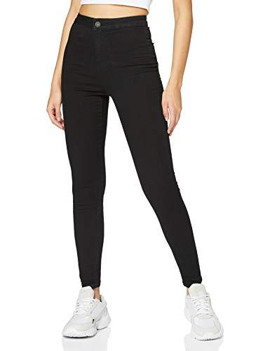 Noisy may Damen Nmella Super Hw Gu304 Jeans, Schwarz (Black), S /L32