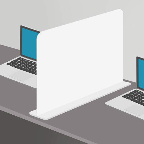 Q&B Grafiche Barriera Protettiva da scrivania in forex 5 mm DVS - Divisorio per Ufficio parasputi separatore da scrivania (Bianco)