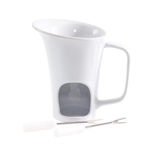 Schokoladenfondue in Becherform Edelstahlgabeln Öffnung für Teelicht in Geschenkkkarton von notrash2003®