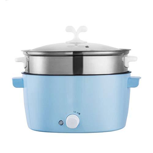 GMZS Multifunktionale elektrische Küchentopf, Elektroherd Mini Kochmaschine Non-Stick Indoor Gedämpfter Ei-Topf, Suppentopf, Bratpfanne