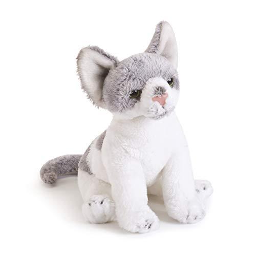 DEMDACO Light Grey Hairless Sphinx Cat Children's Plush Beanbag Stuffed Animal Toy